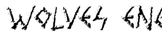 Wolves engraven Font