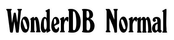 WonderDB Normal Font