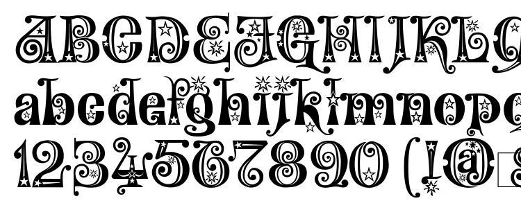 glyphs Wonderland Stars font, сharacters Wonderland Stars font, symbols Wonderland Stars font, character map Wonderland Stars font, preview Wonderland Stars font, abc Wonderland Stars font, Wonderland Stars font