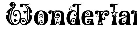 Wonderland Stars Font, Retro Fonts