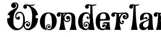 Wonderland Font, Monogram Fonts