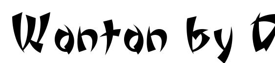 Wonton by Da Font Mafia Font