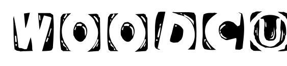 Woodcuttedcapsinvers Font