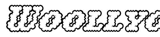 Woollyoutline Font