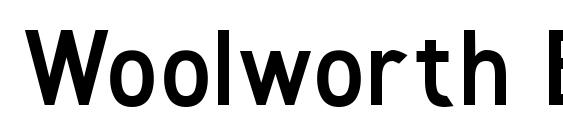 Woolworth Bold Font