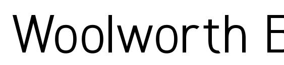 Woolworth Book Font