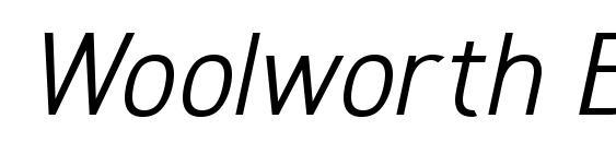 Woolworth BookItalic Font