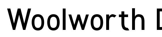 Woolworth DemiBold Font, Beautiful Fonts