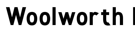 Woolworth ExtraBold Font