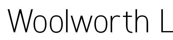 Woolworth Light Font