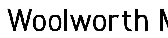 Woolworth Medium Font