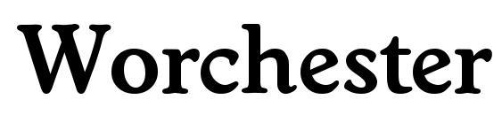 Worchester demibold Font