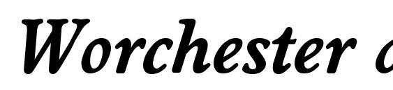Worchester demiboldita Font