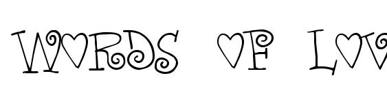 Words of love Font, Pretty Fonts