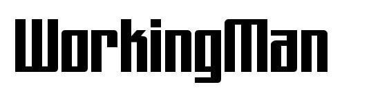 WorkingMan Font