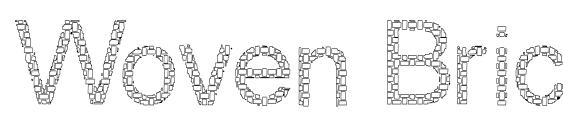 Woven Brick outline Font, Pretty Fonts