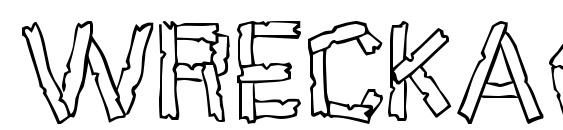 Wreckage Font