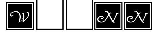 Wrenn Initials Blocked Font