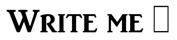 Write me 1 Font