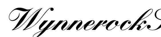 WynnerockScript Black Font, Elegant Fonts