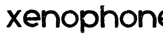 шрифт Xenophone, бесплатный шрифт Xenophone, предварительный просмотр шрифта Xenophone