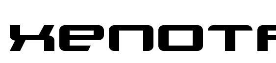 Xenotron broadstroke font, free Xenotron broadstroke font, preview Xenotron broadstroke font