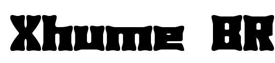 Шрифт Xhume BRK, Ретро шрифты