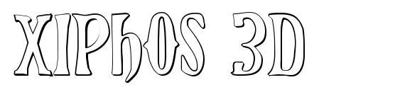 Xiphos 3D Font, Retro Fonts