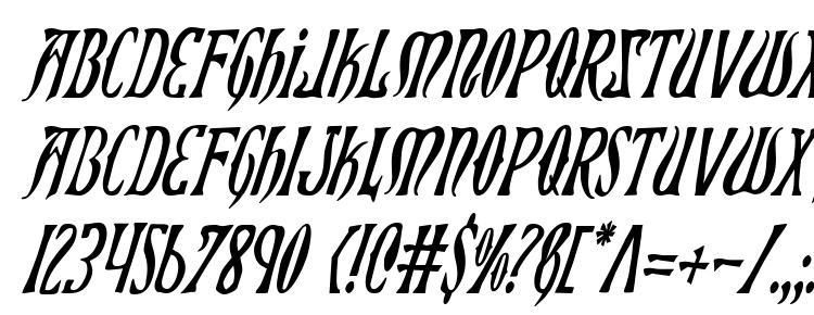 glyphs Xiphos Condensed Italic font, сharacters Xiphos Condensed Italic font, symbols Xiphos Condensed Italic font, character map Xiphos Condensed Italic font, preview Xiphos Condensed Italic font, abc Xiphos Condensed Italic font, Xiphos Condensed Italic font