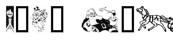 Шрифт Xmas Clipart 2, Рождественские шрифты