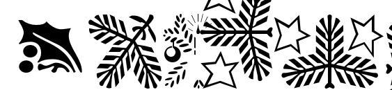 Шрифт Xmasornament2, Рождественские шрифты
