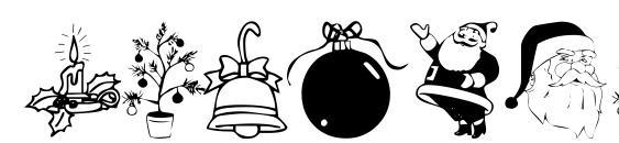 Xmastyme 1 Font, Christmas Fonts