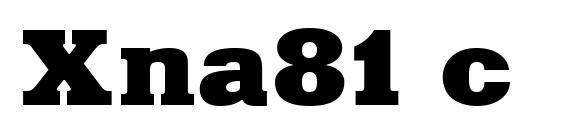 Xna81 c Font