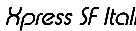 Xpress SF Italic Font, Sans Serif Fonts