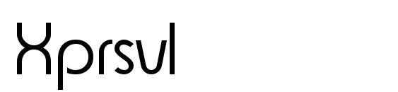 Xprsvl Font