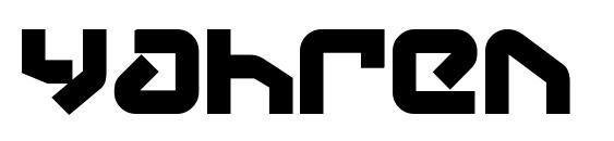 Yahren Bold Font, Retro Fonts