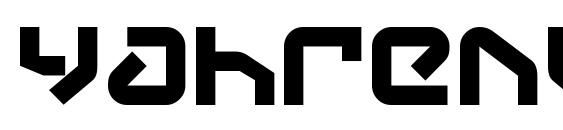 Yahrenv2 Font, Monogram Fonts