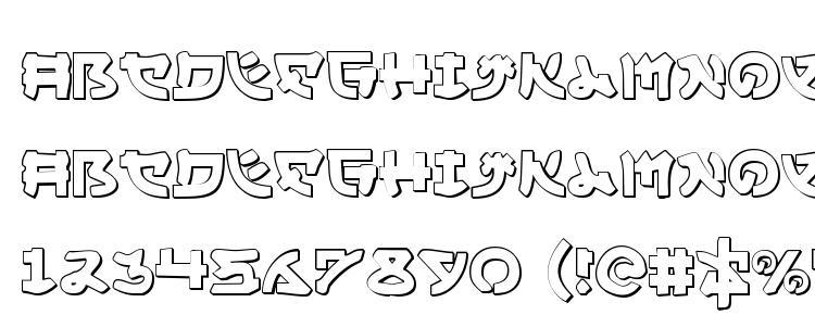 glyphs Yama Moto 3D font, сharacters Yama Moto 3D font, symbols Yama Moto 3D font, character map Yama Moto 3D font, preview Yama Moto 3D font, abc Yama Moto 3D font, Yama Moto 3D font