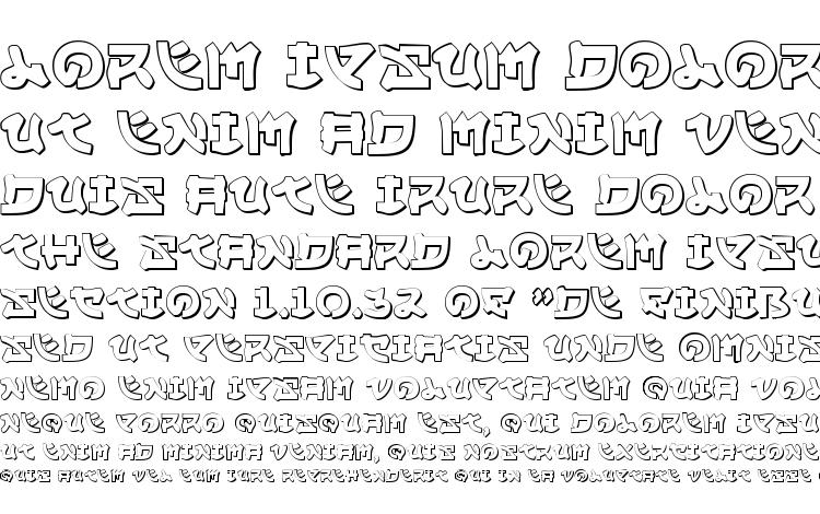 specimens Yama Moto 3D font, sample Yama Moto 3D font, an example of writing Yama Moto 3D font, review Yama Moto 3D font, preview Yama Moto 3D font, Yama Moto 3D font