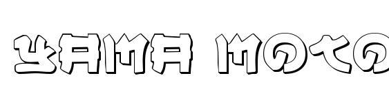 Yama Moto 3D font, free Yama Moto 3D font, preview Yama Moto 3D font