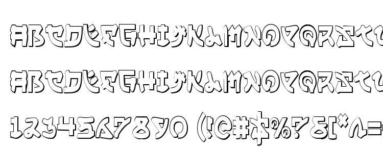 glyphs Yama Moto Condensed 3D font, сharacters Yama Moto Condensed 3D font, symbols Yama Moto Condensed 3D font, character map Yama Moto Condensed 3D font, preview Yama Moto Condensed 3D font, abc Yama Moto Condensed 3D font, Yama Moto Condensed 3D font