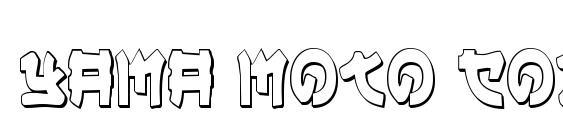 Yama Moto Condensed 3D Font
