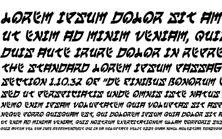 specimens Yama Moto Condensed Italic font, sample Yama Moto Condensed Italic font, an example of writing Yama Moto Condensed Italic font, review Yama Moto Condensed Italic font, preview Yama Moto Condensed Italic font, Yama Moto Condensed Italic font