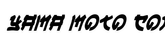 Yama Moto Condensed Italic Font