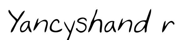 Yancyshand regular Font