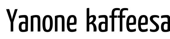 Yanone kaffeesatz regular Font, Elegant Fonts
