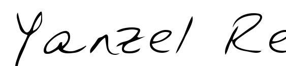 Yanzel Regular Font, Handwriting Fonts