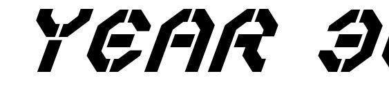 Year 3000Bold Italic Font, Retro Fonts