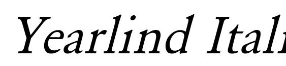 Yearlind Italic Font