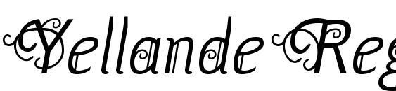 Yellande Regular Font, Monogram Fonts